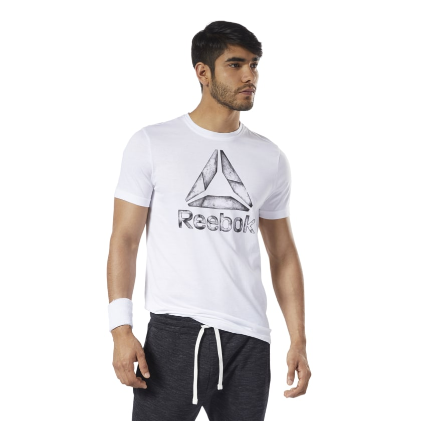 Reebok-Men-039-s-One-Series-Training-Black-Ice-Tee thumbnail 17
