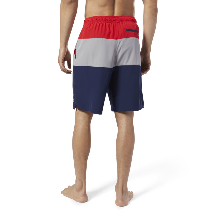 Reebok-Men-039-s-Colorblock-Tab-Volley-Shorts thumbnail 33