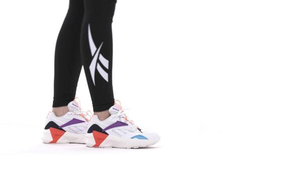 Détails sur REEBOK AZTREK DOUBLE MIX POPS BLANC Baskets Femme White Sneakers DV8171