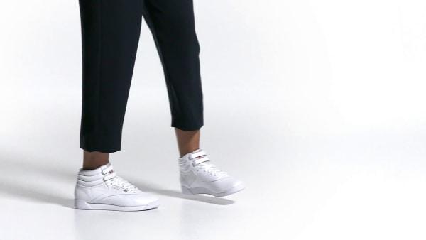 Reebok Freestyle Hi Schuhe Women Damen High Top Classics Freizeit Sneaker