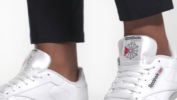 Reebok Classic Leather MU Véritable Cuir-Sneaker Low Top Chaussures De Loisirs Chaussures Blanc